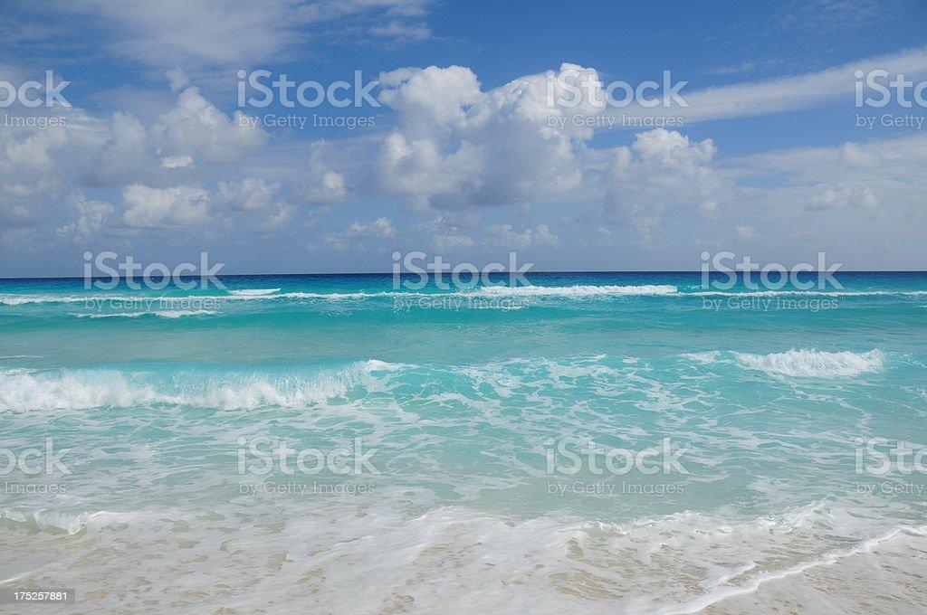 Cancun Beach, Mexico. stock photo