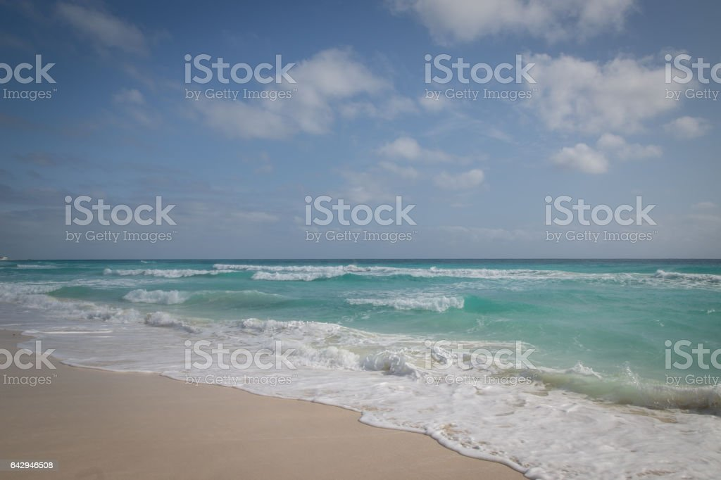 Cancun beach, Mexico stock photo