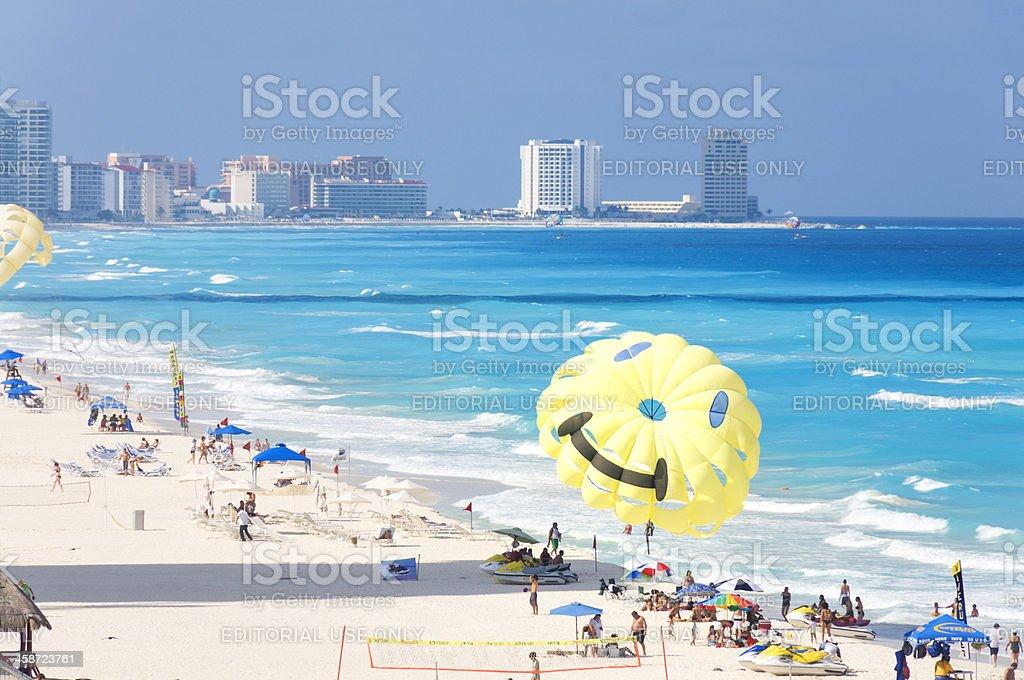 Cancun Beach stock photo