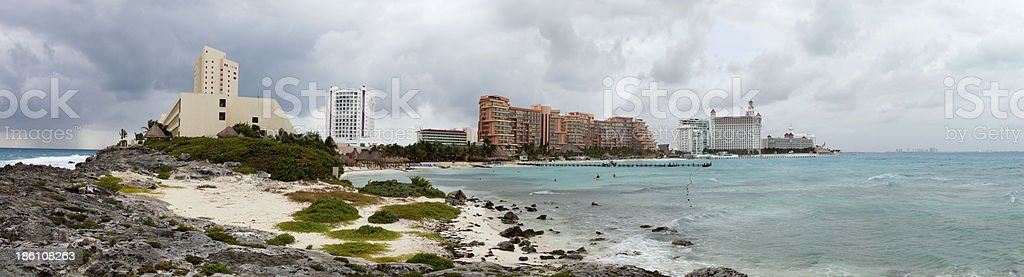 Cancun, Mexico Panoramic royalty-free stock photo