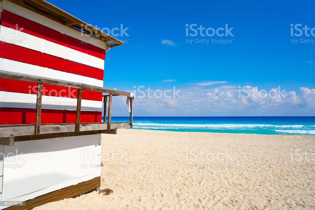 Cancun Playa Delfines beach Riviera Maya stock photo