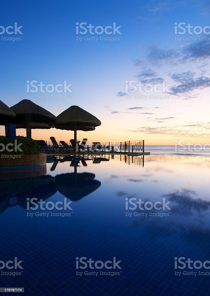 Cancun Sunrise stock photo