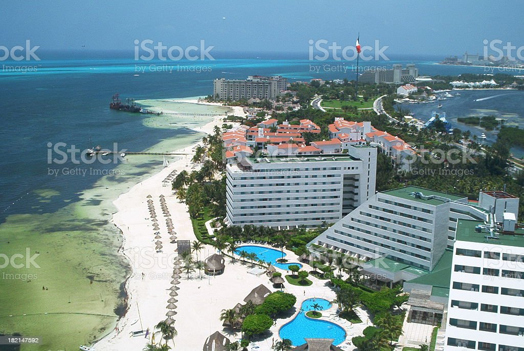 Cancun - view from a tower royalty-free stock photo