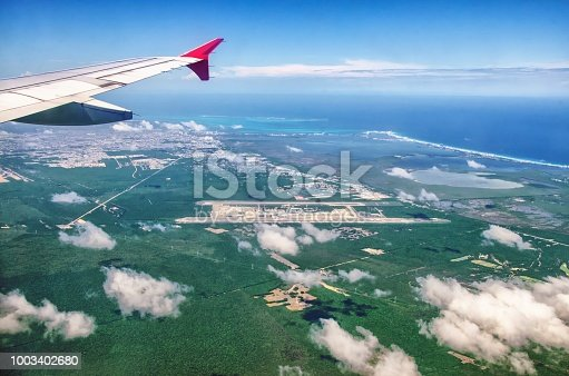 621114928istockphoto Cancun Viewed From the Plane 1003402680