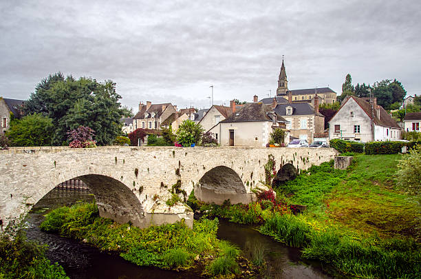 Candé-sur-Beuvron Small village in the Loire Valley. calvados stock pictures, royalty-free photos & images