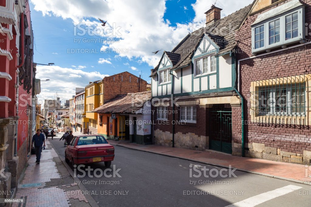Candelaria Street scene stock photo