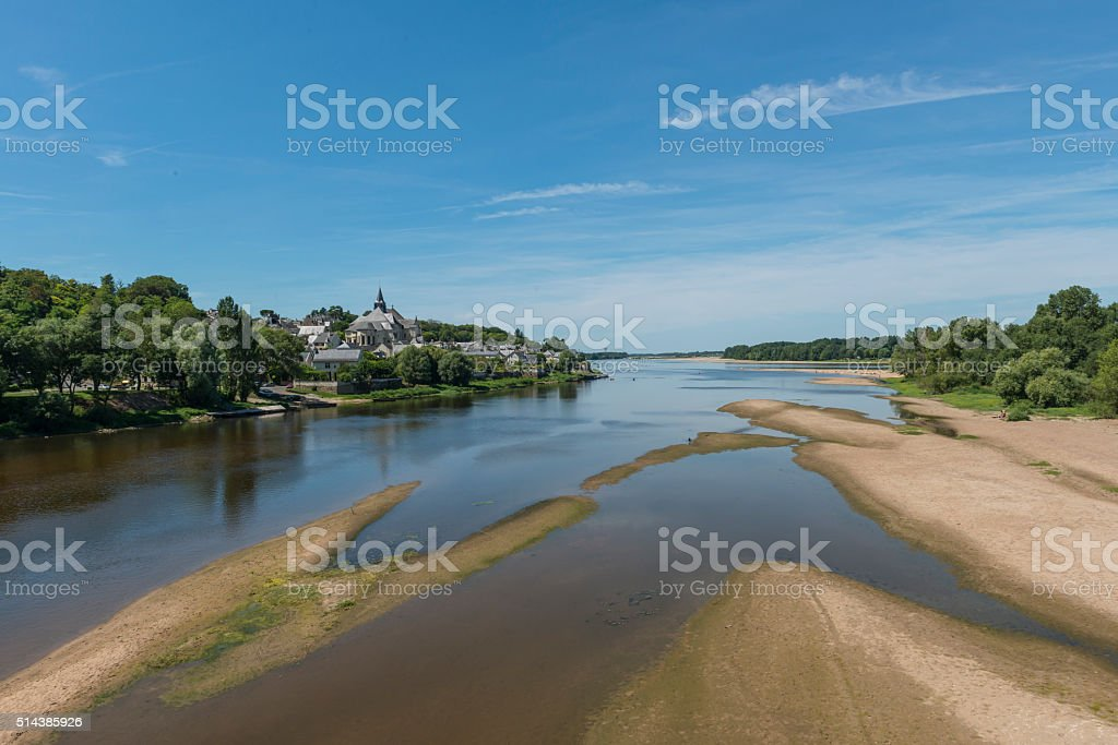 Canders Saint Martin Loire Sand Beach stock photo