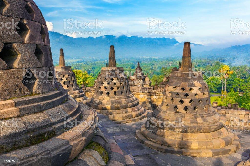 Candi Borobudur, Yogyakarta, Jawa, Indonesia. stock photo