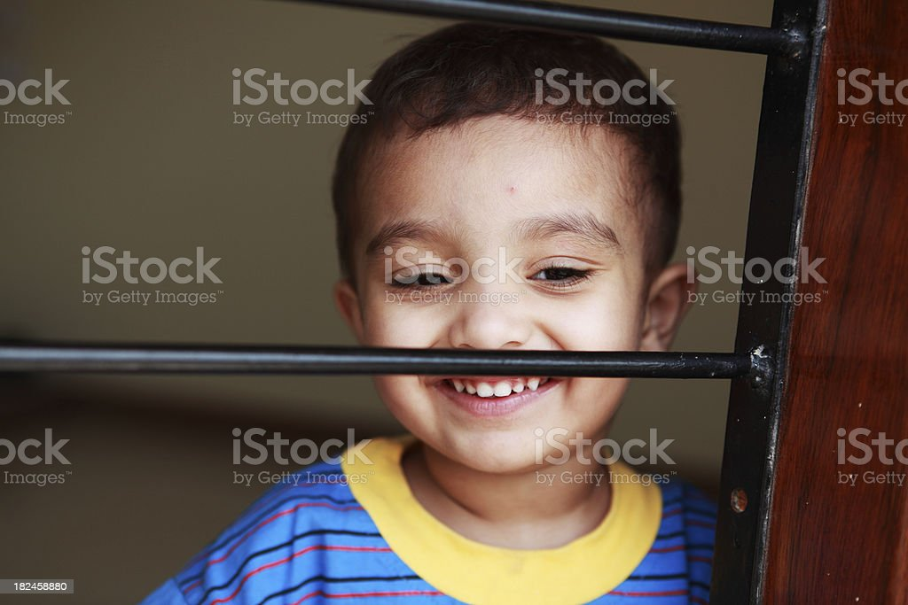 Candid 2 year old South Asian Boy royalty-free stock photo