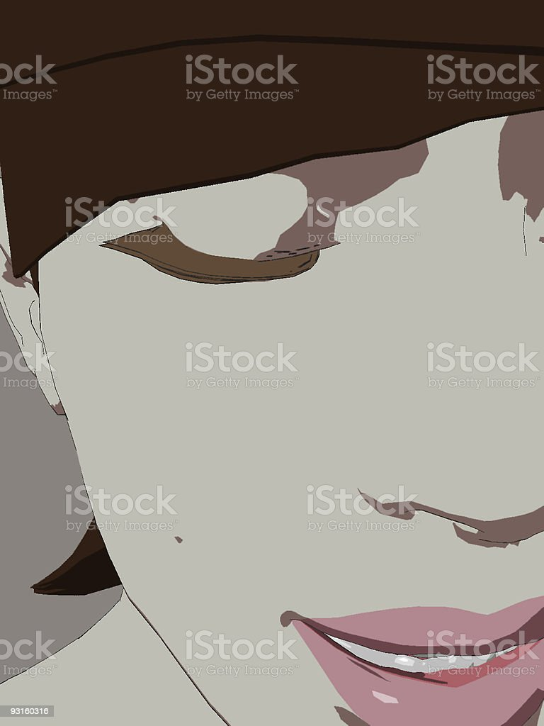 Candid Female Face royalty-free stock photo