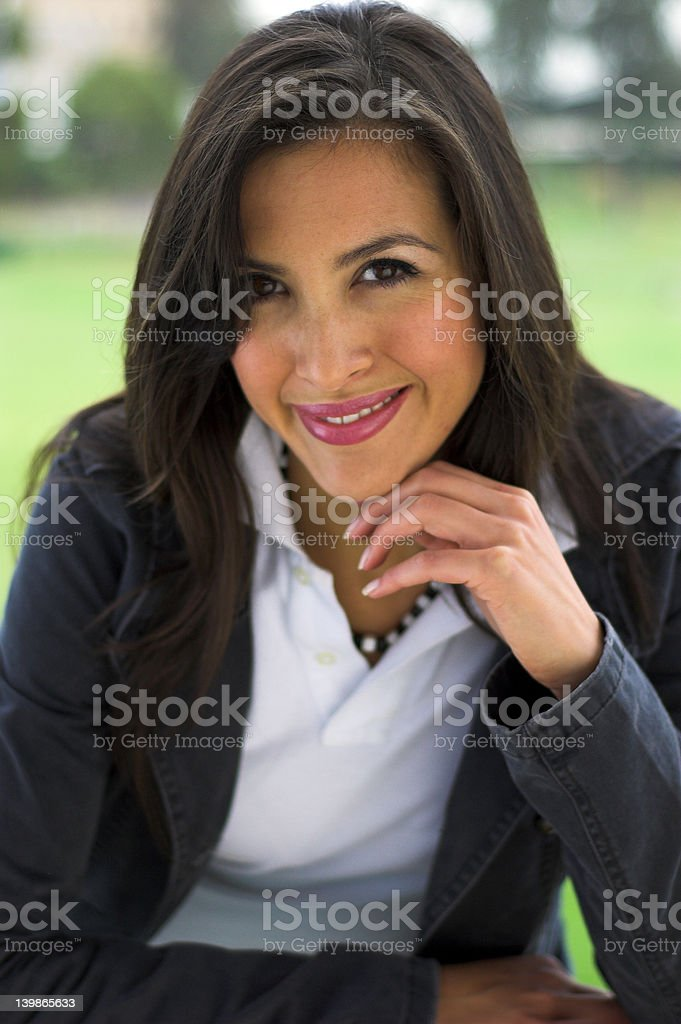 Candid Outdoor Portrait royalty-free stock photo