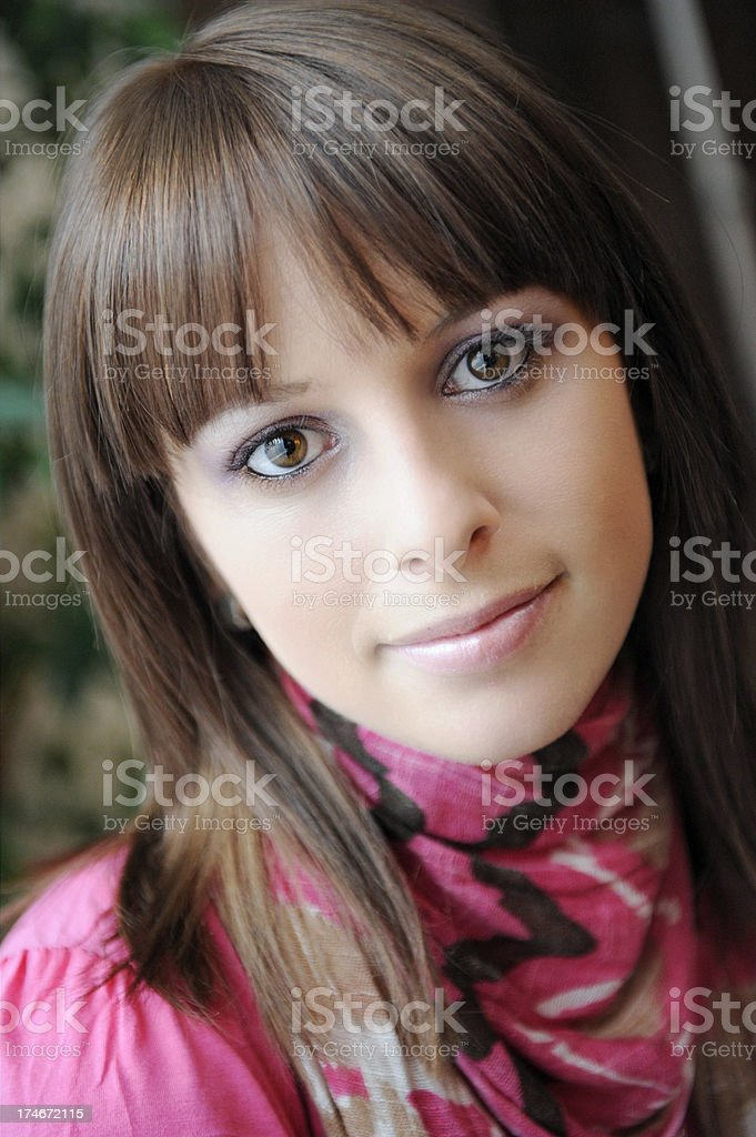 Candid Portrait - Natural Window Light royalty-free stock photo