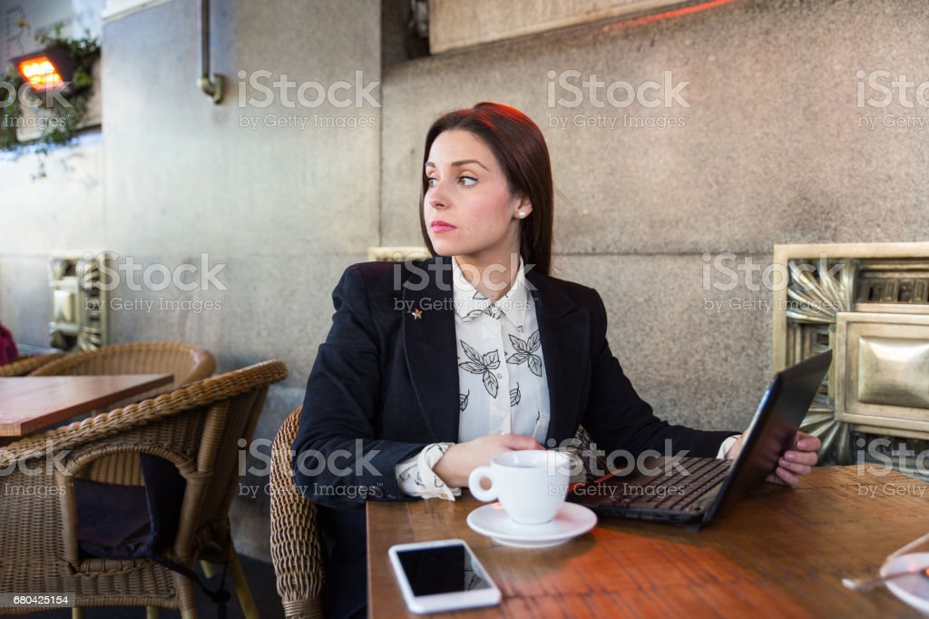 Candid Portrait Of A Businesswoman Working In A Cafe Stock Photo Download Image Now Istock