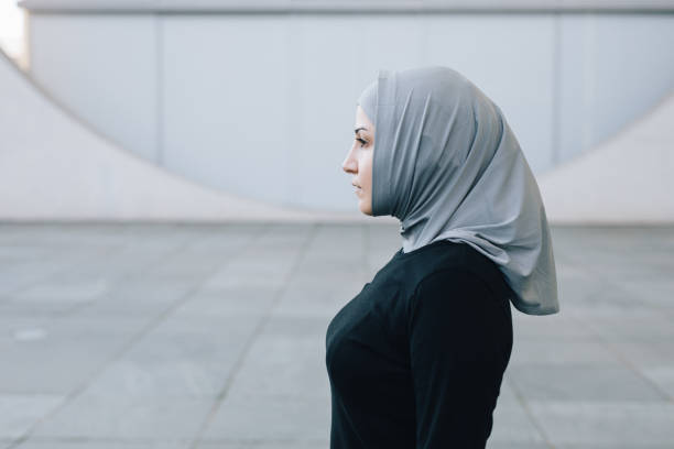 Candid portrait of muslim woman. Candid portrait of muslim woman wearing a hijab. religious veil stock pictures, royalty-free photos & images