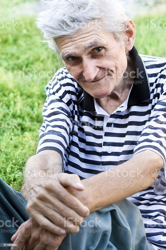 Candid portrait of senior man royalty-free stock photo