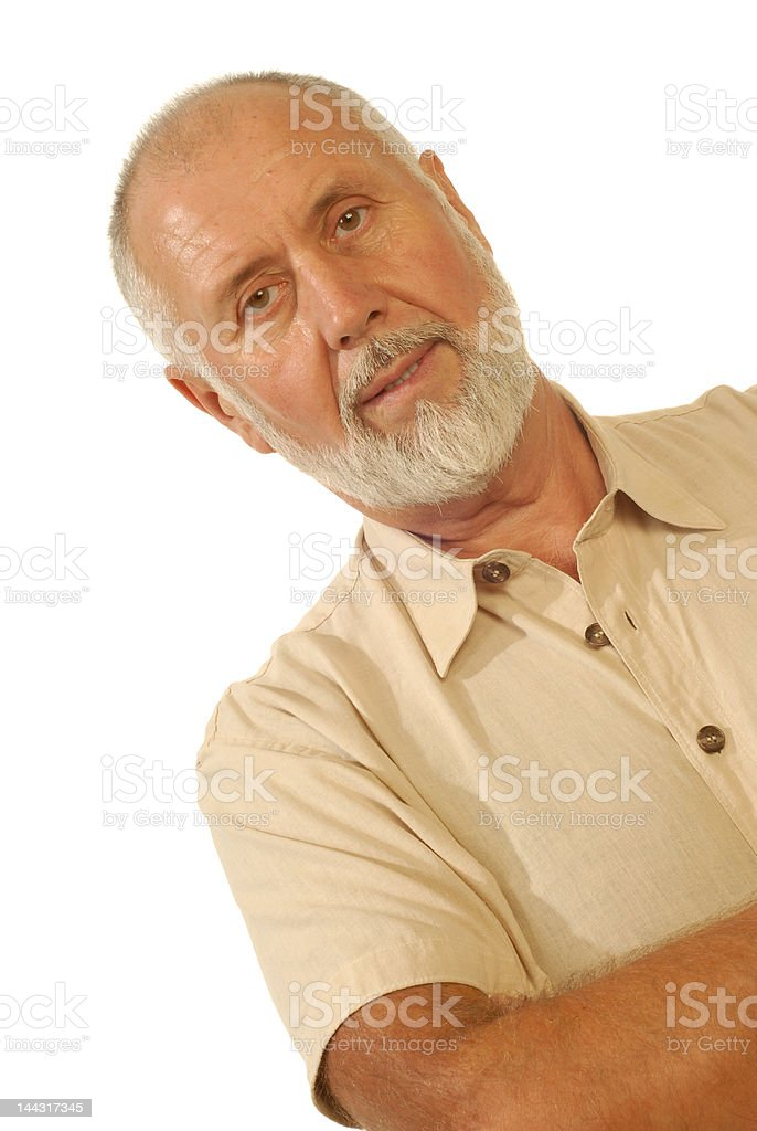 Candid senior portrait royalty-free stock photo