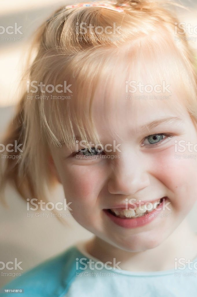 candid smiling girl royalty-free stock photo