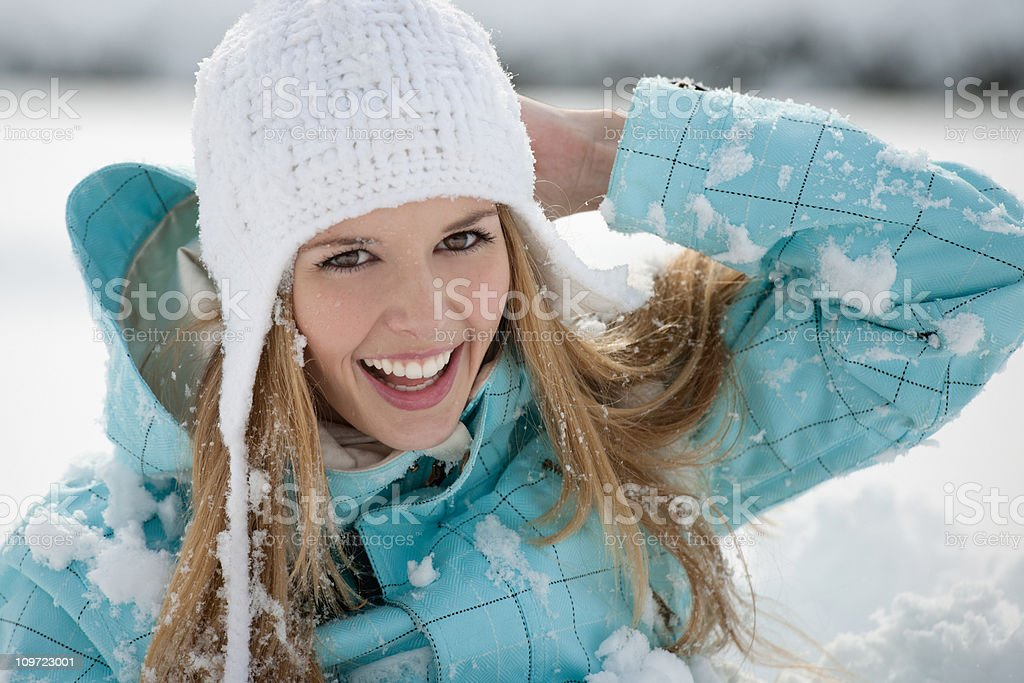 Candid Winter Portrait (XXXL) royalty-free stock photo