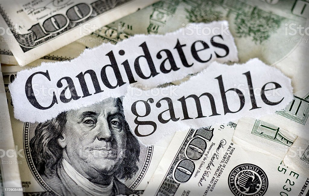 candidates gamble royalty-free stock photo