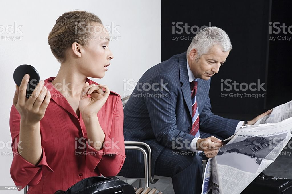 Candidates waiting for interview royalty-free stock photo