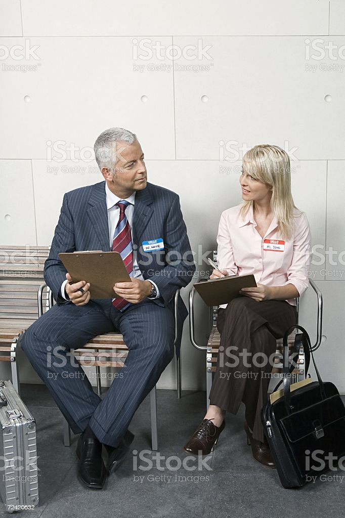 Candidates with clipboards royalty-free stock photo