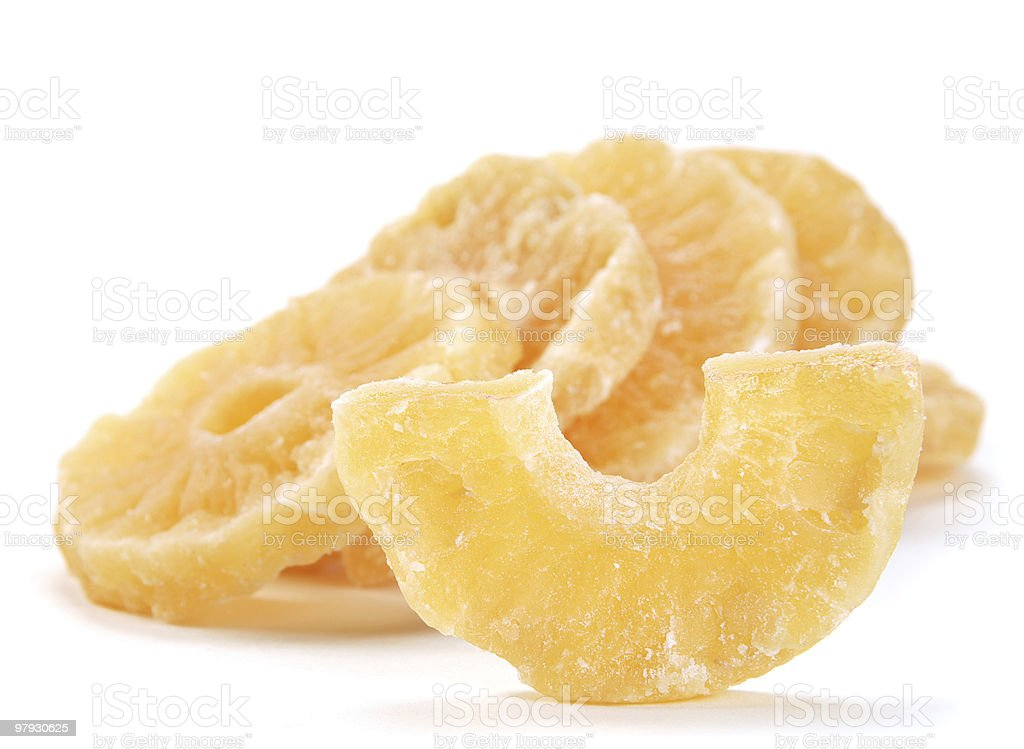 Candided fruit pineapple royalty-free stock photo