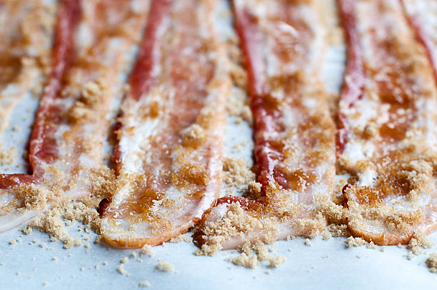 Candied Bacon stock photo