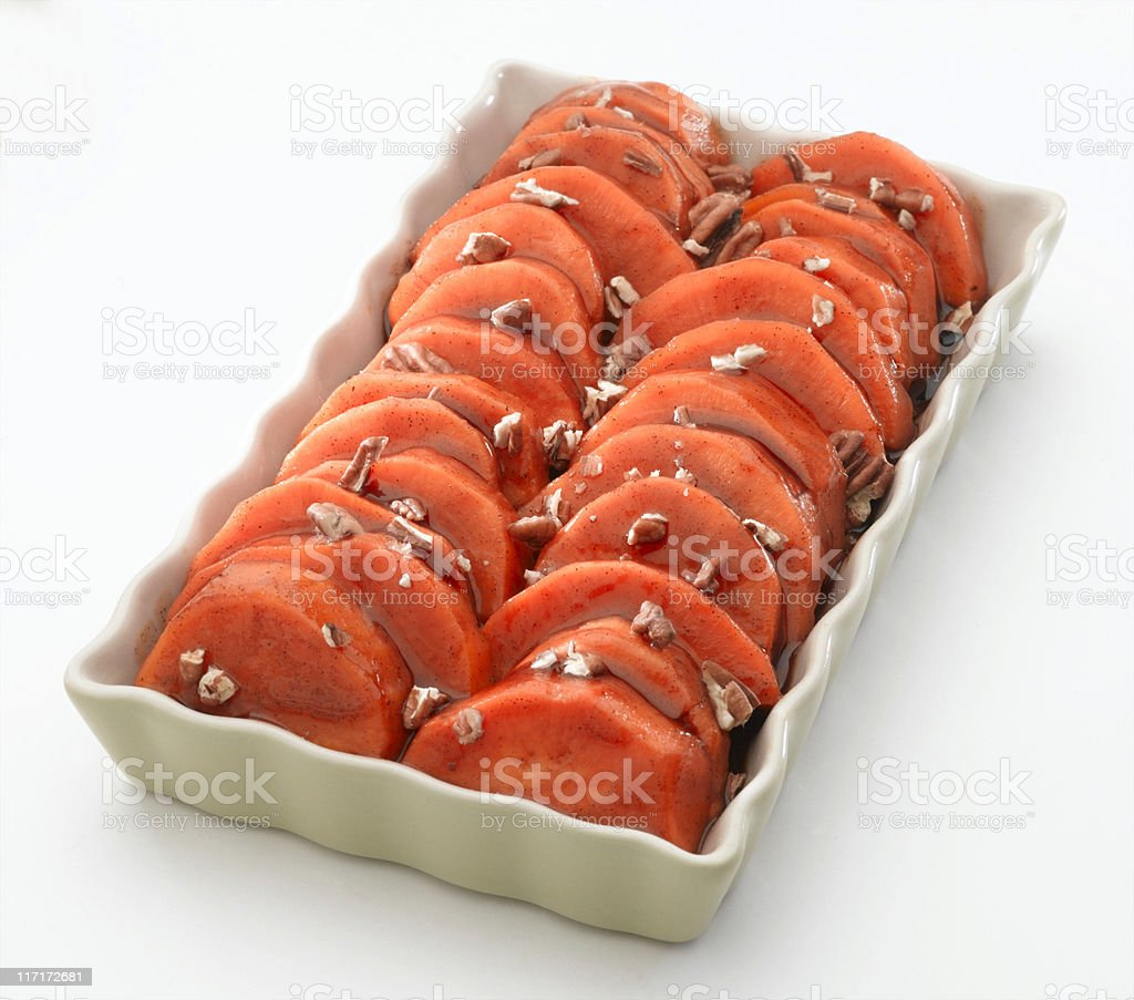 Candied Yams (sweet potatoes) royalty-free stock photo