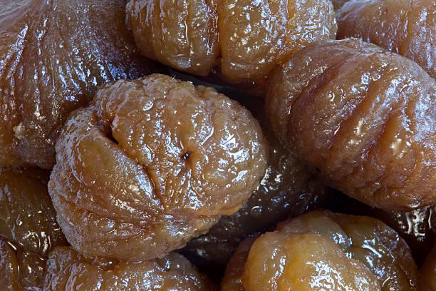 Candieded chestnuts stok fotoğrafı
