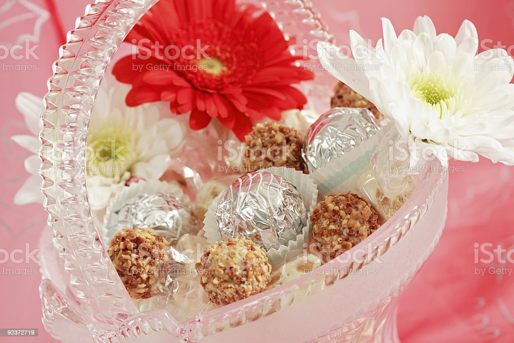 Candies and pralines royalty-free stock photo