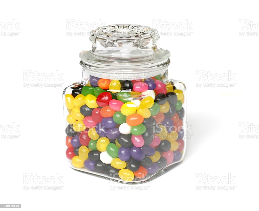 Candies in Jar stock photo