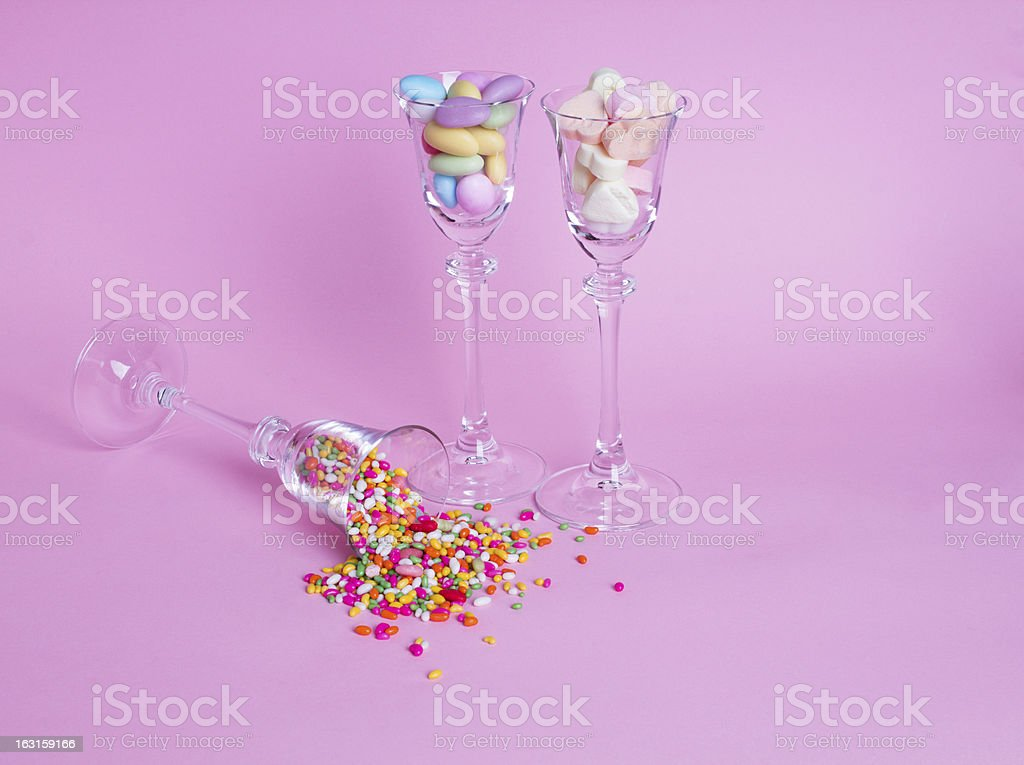 Candies in the glass royalty-free stock photo