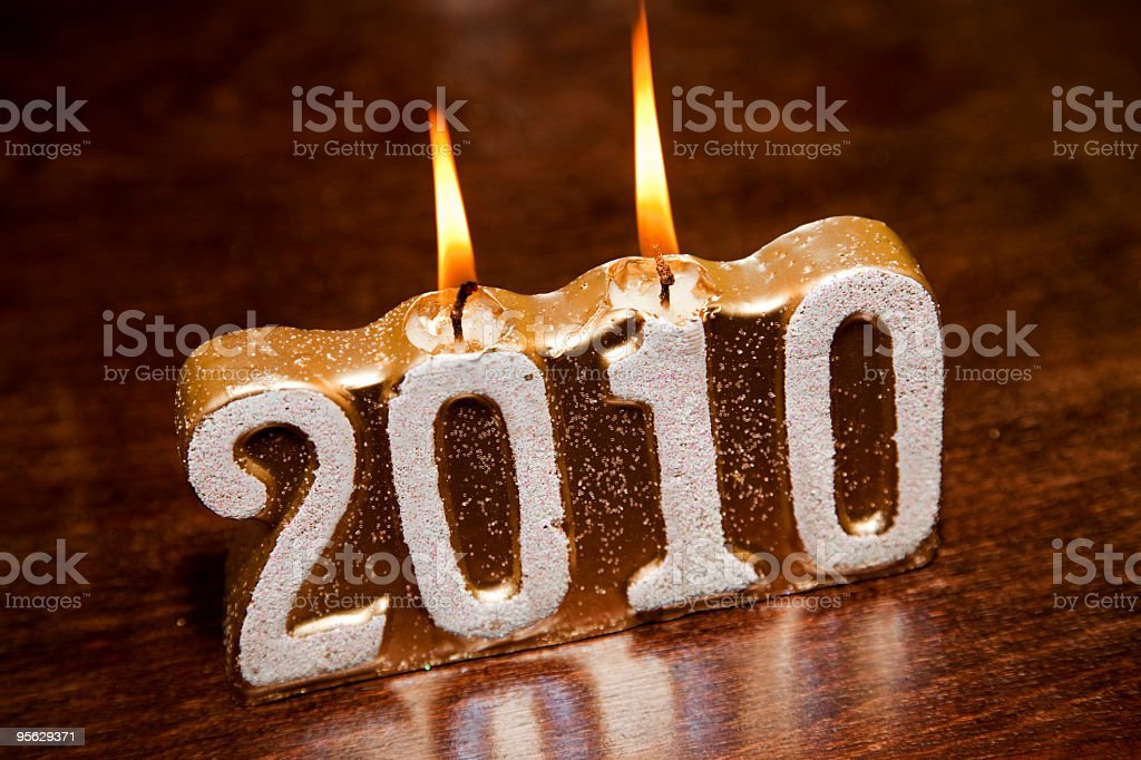 candle 2010 stock photo
