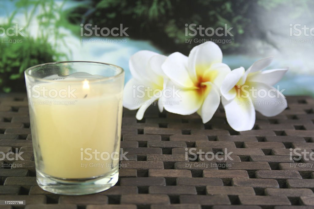 candle and flowers - Royalty-free Alternative Medicine Stock Photo