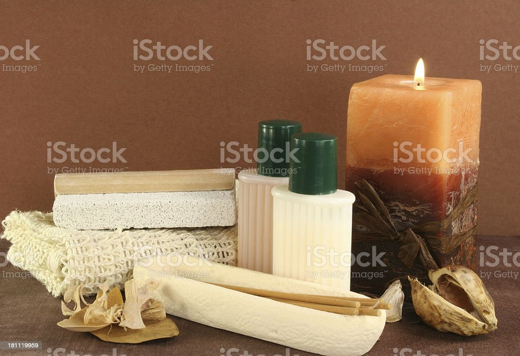 candle and spa royalty-free stock photo