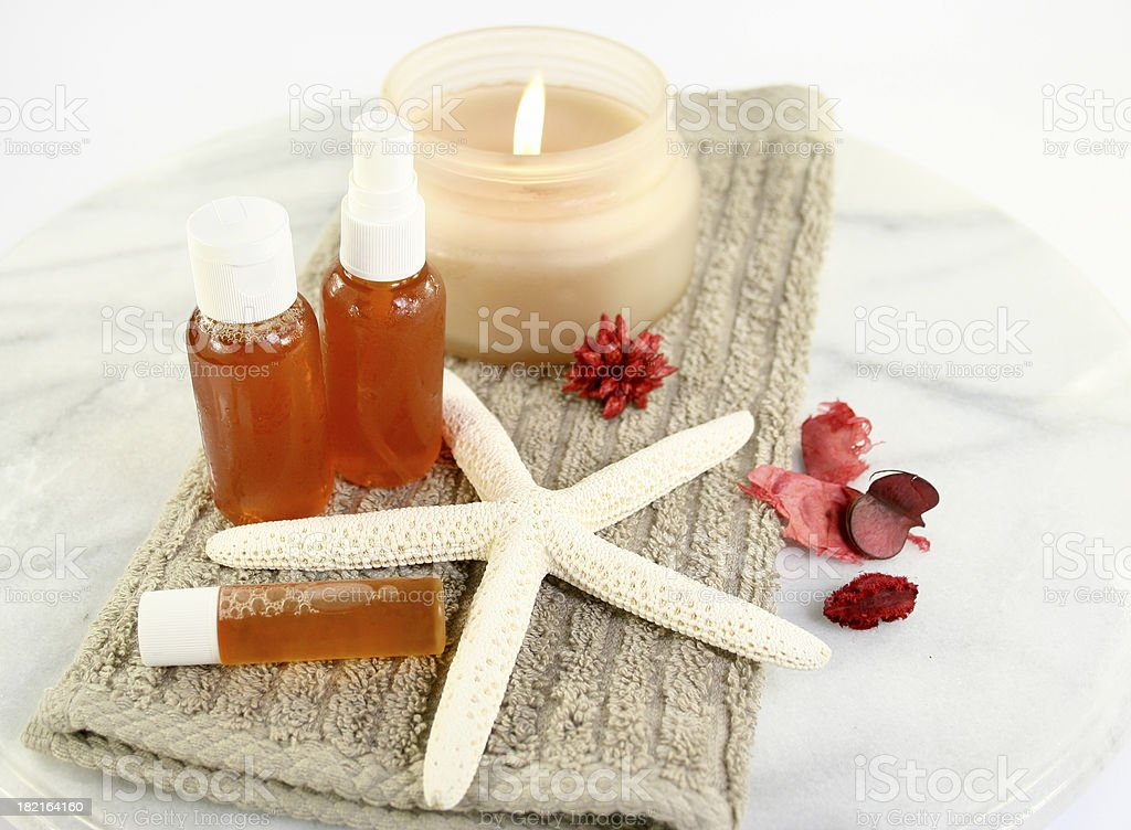 candle and spa products royalty-free stock photo