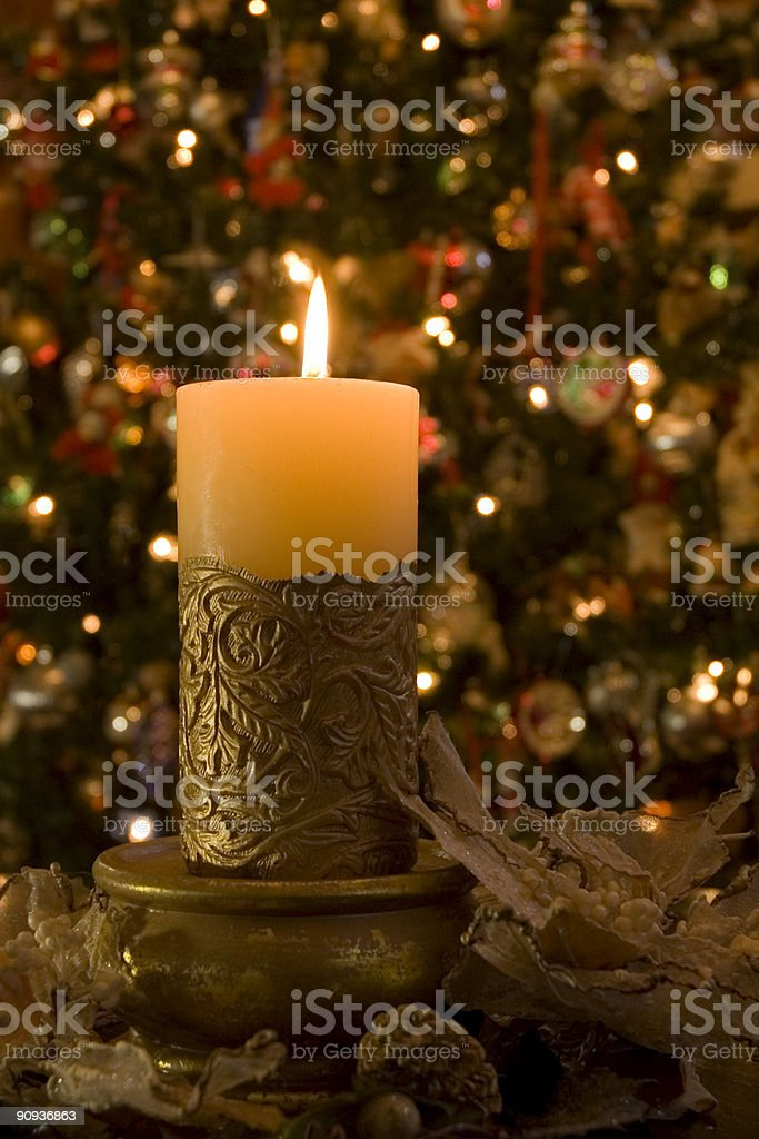 Candle and Wreath royalty-free stock photo