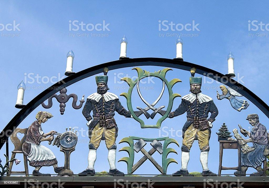Kerze arch, Seiffen, – Foto