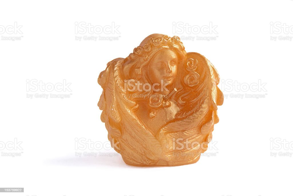 Candle as  an angel royalty-free stock photo