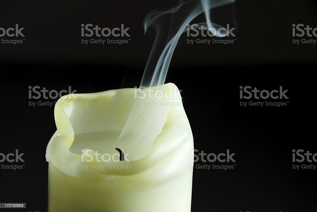 candle, blown out stock photo