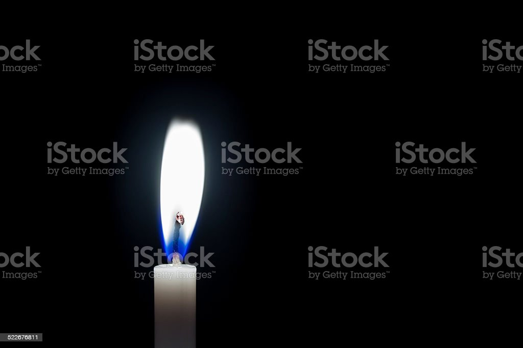 Candle Burning stock photo