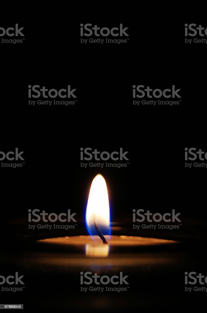 Candle Burning stock photo
