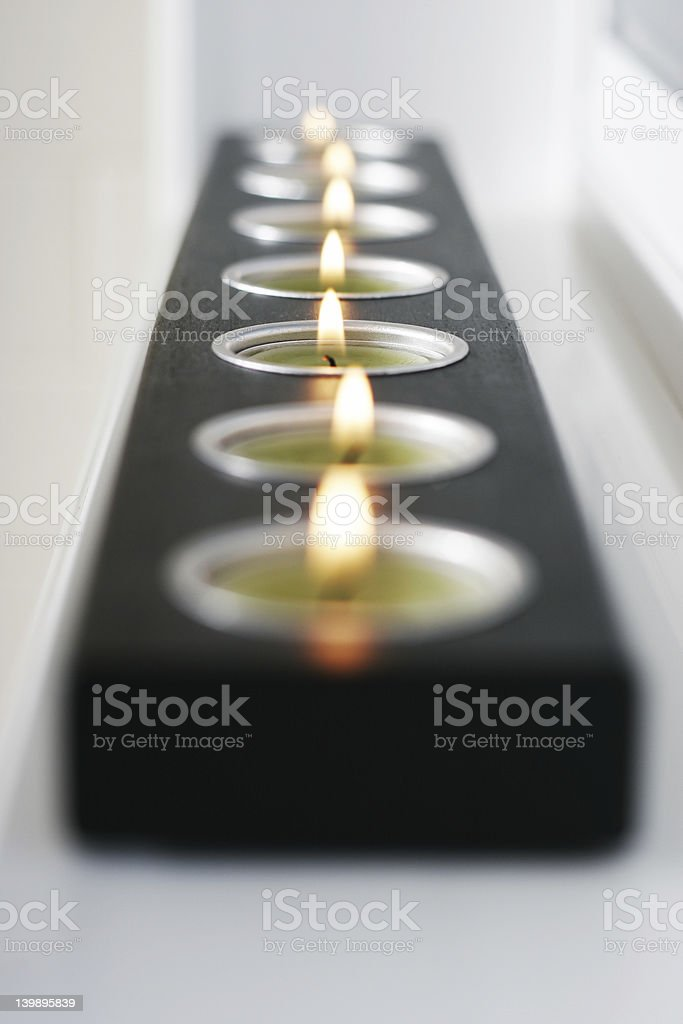 candle center focus royalty-free stock photo