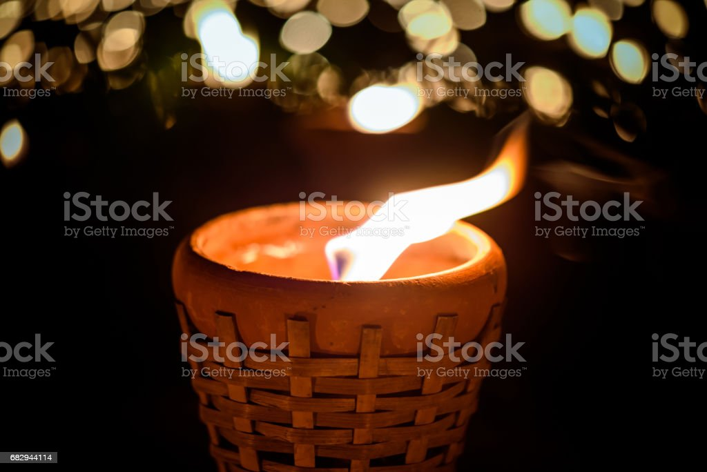 candle cup  at night royalty-free stock photo