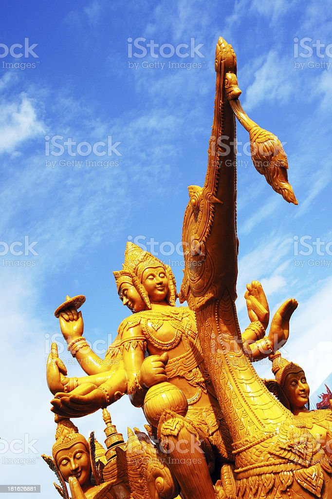 Candle Festival in Thailand royalty-free stock photo