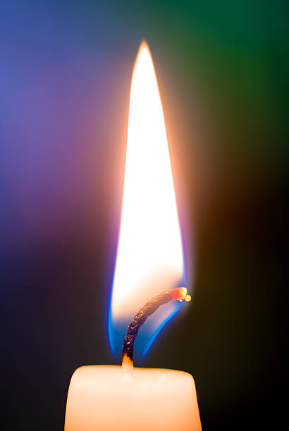 Candle flame, close up stock photo