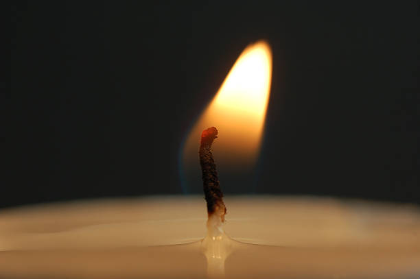 candle flame stock photo