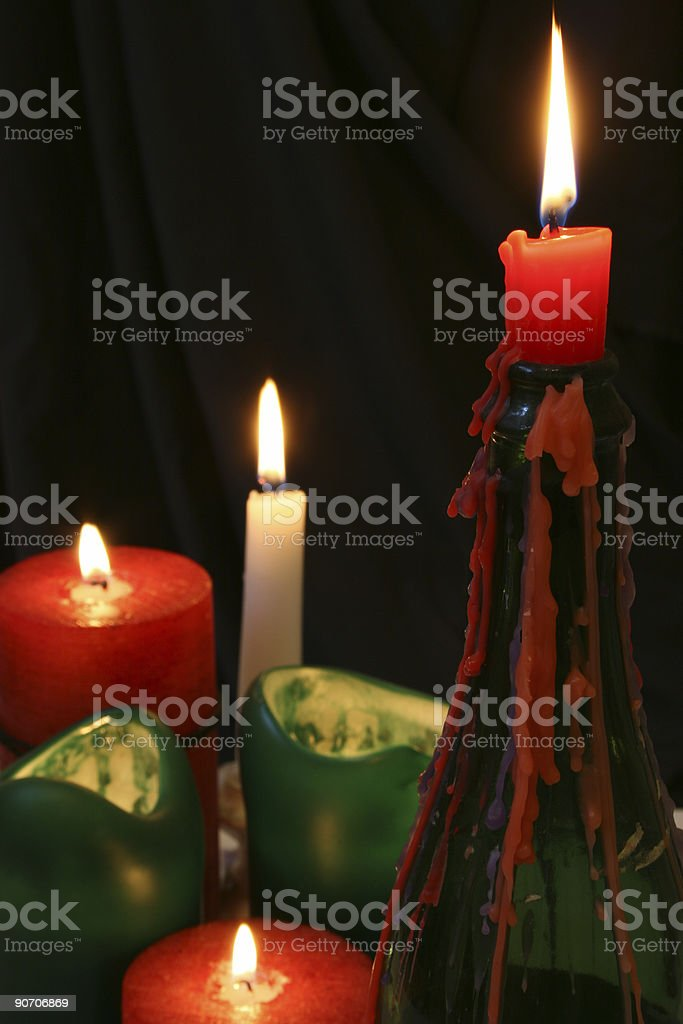 Candle Flames royalty-free stock photo