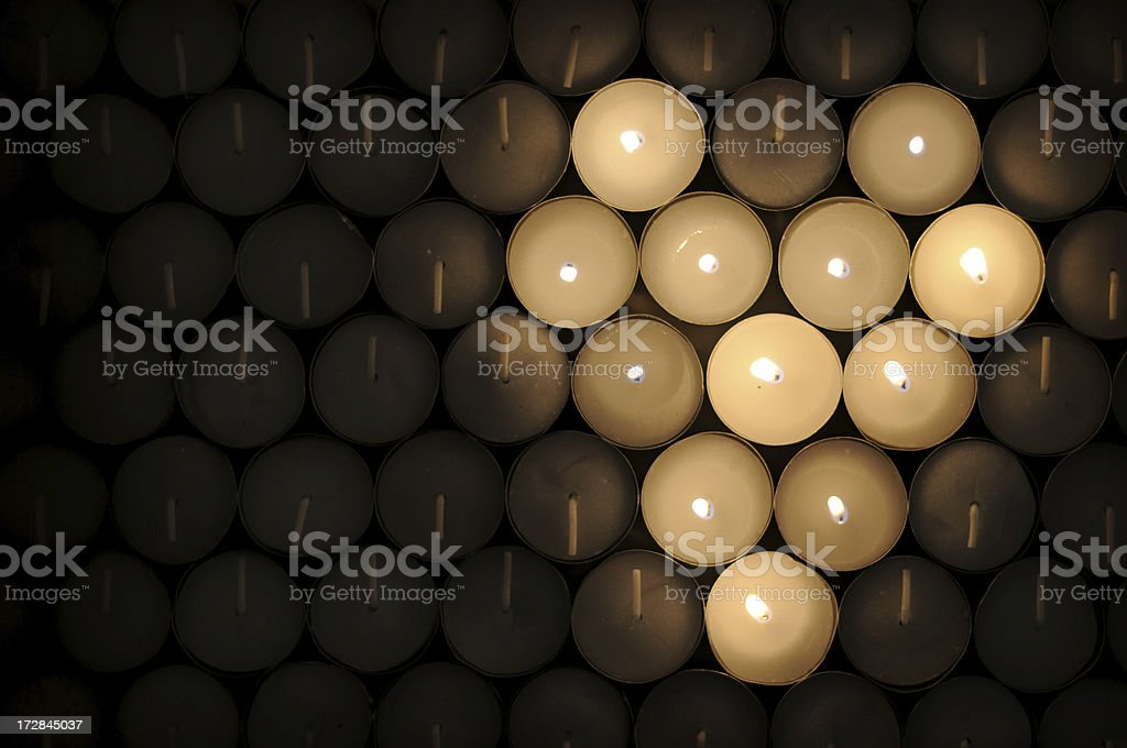 Candle Heart stock photo