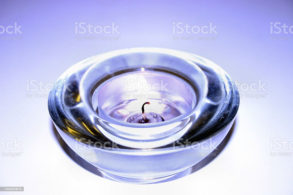 Candle holder stock photo